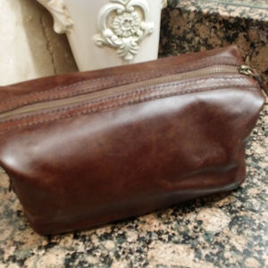 cd7cef033479 Pottery Barn Bags -  NEW  Pottery Barn Saddle Leather Toiletry Case